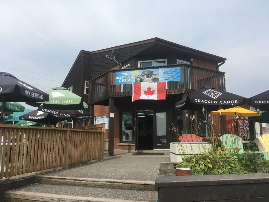 Boathouse Grill on Lake Scugog lakeshore in Port Perry